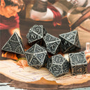 Silver Barrel Plating Vintage Color Punk Steam Metal Dice 7-Dice Udixi RPG