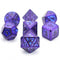 Dark Blue Electrophoresis Powder Glitter Metal Purple/Blue Dice Set