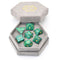 Malachite Semi-Precious Gemstone Dice with Flannel Hexagon Box