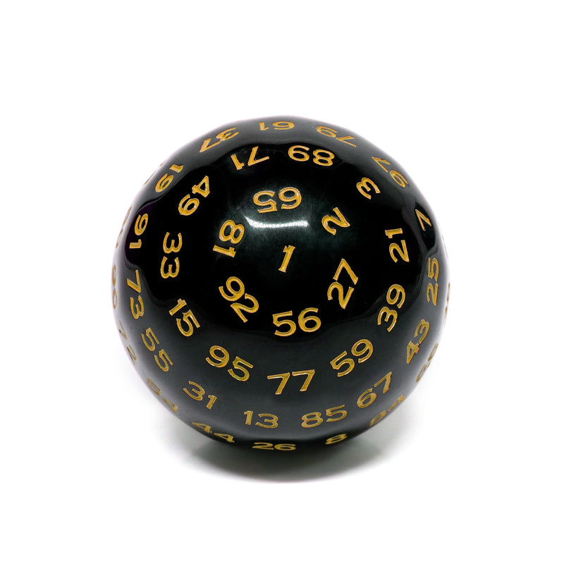 D100-Black Opaque w/Yellow Numbers