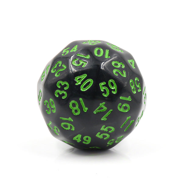 D60-Black Opaque w/Green Numbers