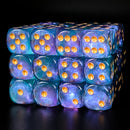 Cyan 16mm Glitter Pipped Dice