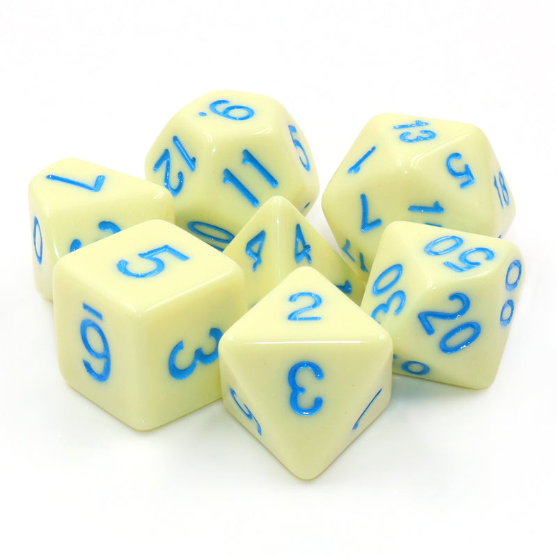 Egg Shell Robin 7-Dice Set