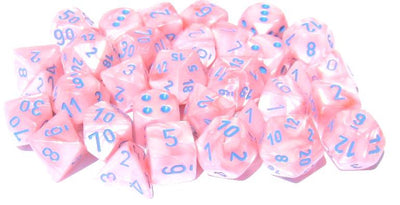Lustrous Pink/blue 7-Die Set Lab Dice
