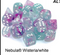 Nebula Wisteria Blue/Purple Luminary 7-Dice/16mm/12mm/30mm/Ten10's *PreSale