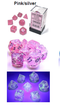 Borealis Pink/silver 7-Dice / 16mm / 12mm / 30mm Luminary
