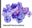 Nebula Nocturnal/blue Luminary 7-Dice/16mm/12mm/30mm/Ten10's *PreSale