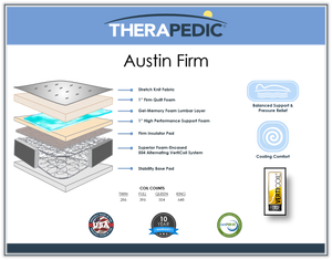 BackSense Austin Firm By Therapedic