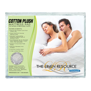 Waterbed Cotton Plush Mattress Pad Natural Breathable