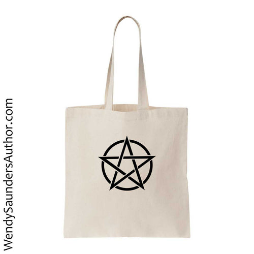 Black Pentagram Canvas Bag