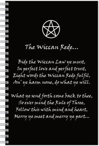 The Wiccan Rede Notebook/pencil Set
