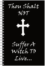 Load image into Gallery viewer, Thou Shalt Not Suffer A Witch To Live Notebook/pencil Set