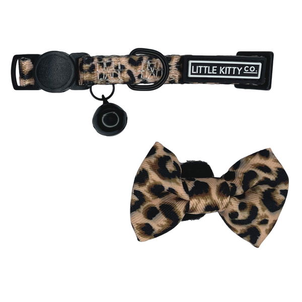 Cat Collar and Bow Tie Luxurious Leopard