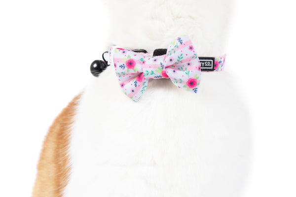 Cat Collar and Bow Tie Fancy Florals