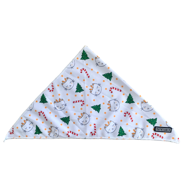 CAT BANDANA: Meowy Cat-mas (NEW!)
