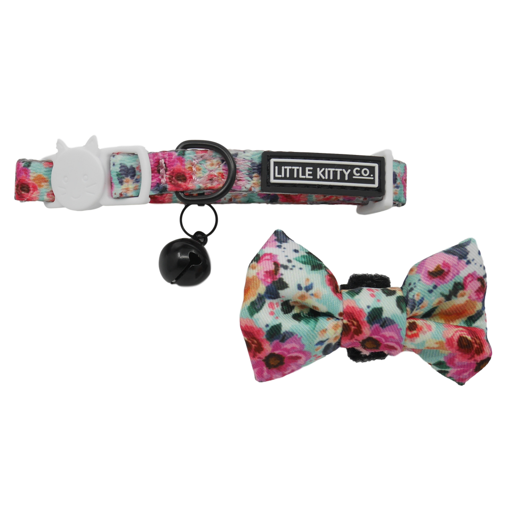 CAT COLLAR & BOW TIE: That Floral Feeling (NEW!)