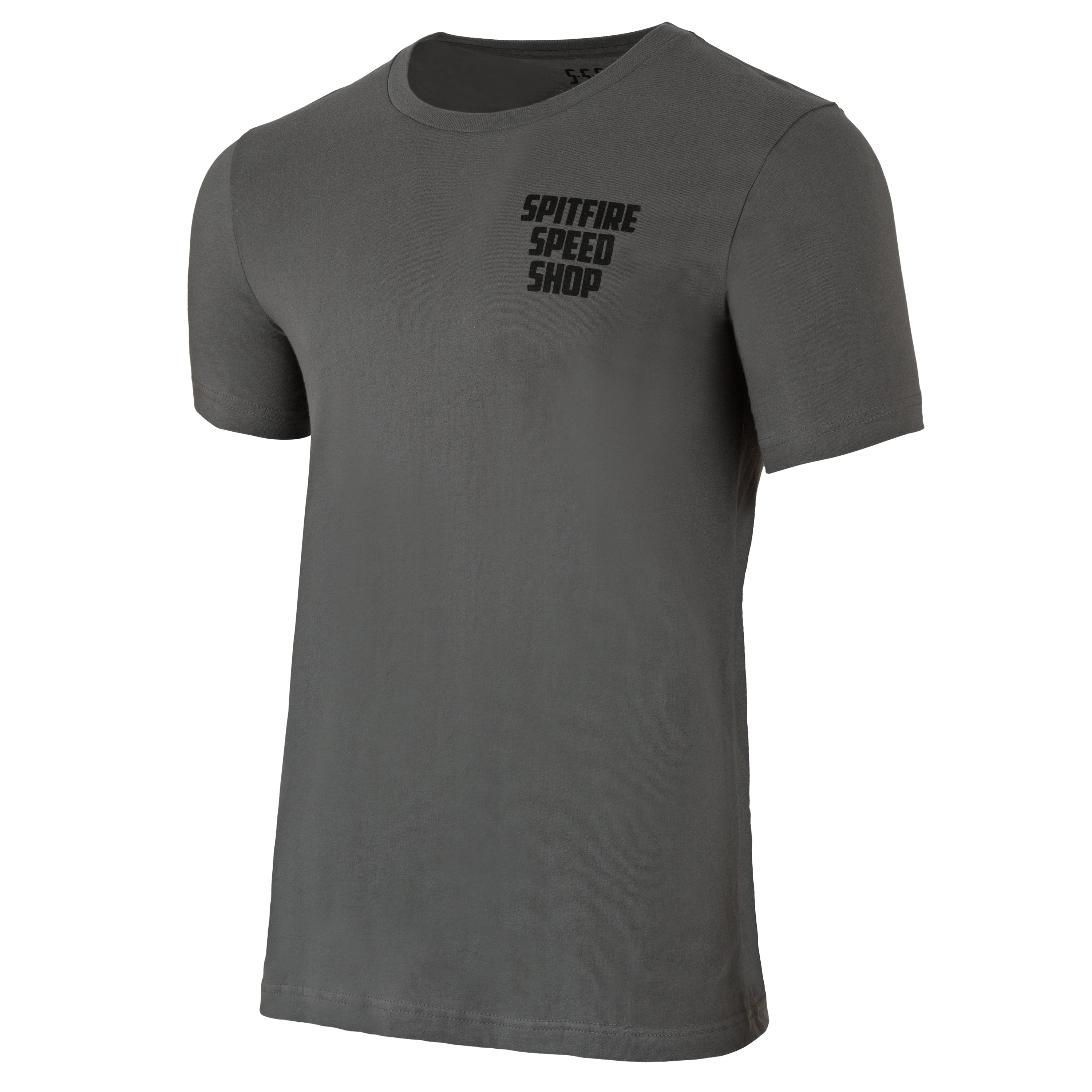 Spitfire Tee Grey With Black Logo