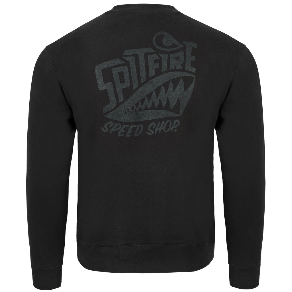 Spitfire Jumper Black With Black Logo