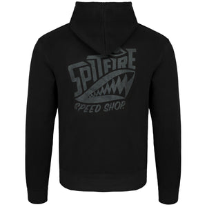 Spitfire Hoodie Black With Black Logo