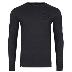 Spitfire Long Sleeve Tee Stealth Grey With Black Logo