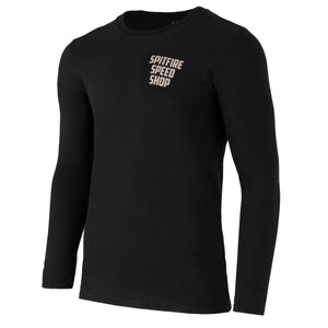 Spitfire Long Sleeve Tee Black With Burnout Print Logo