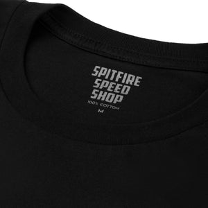 Spitfire Tee Black With Blue Logo