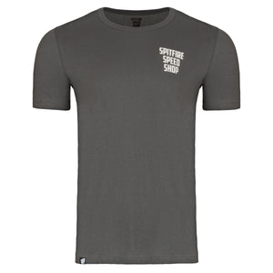 Spitfire Tee Grey With Burnout Print Logo