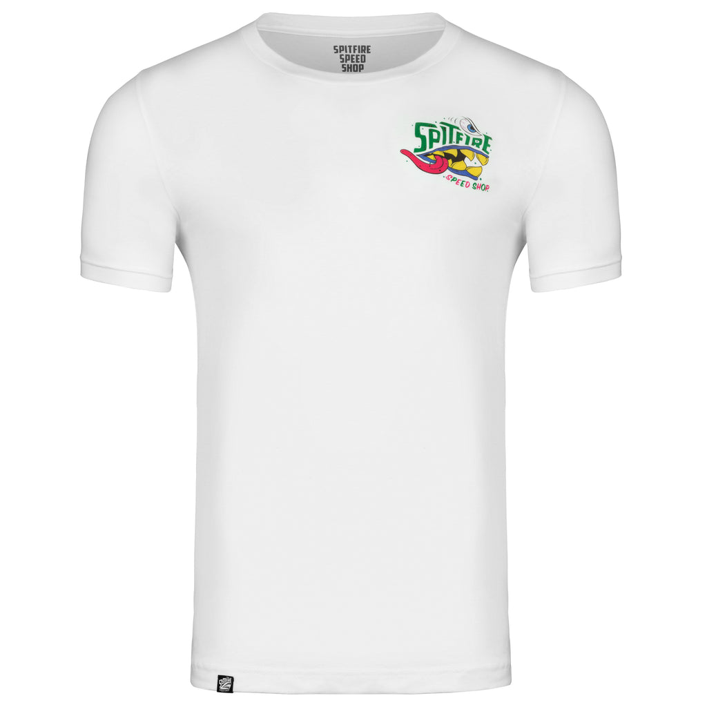 Spitfire Tee White With Colour Monster Front Logo