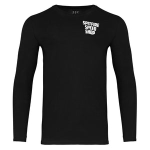Spitfire Long Sleeve Tee Black With Colour Logo