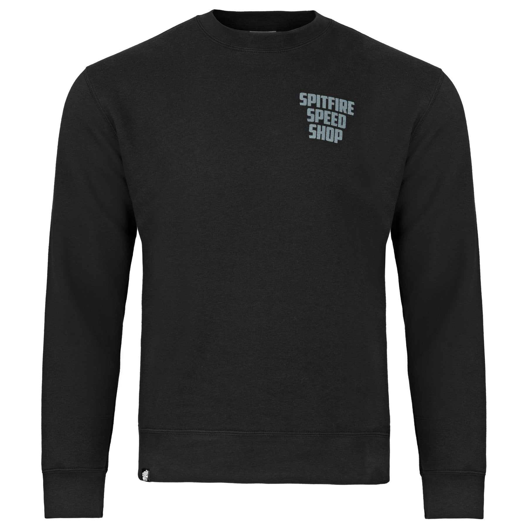 Spitfire Jumper Black With Grey Logo