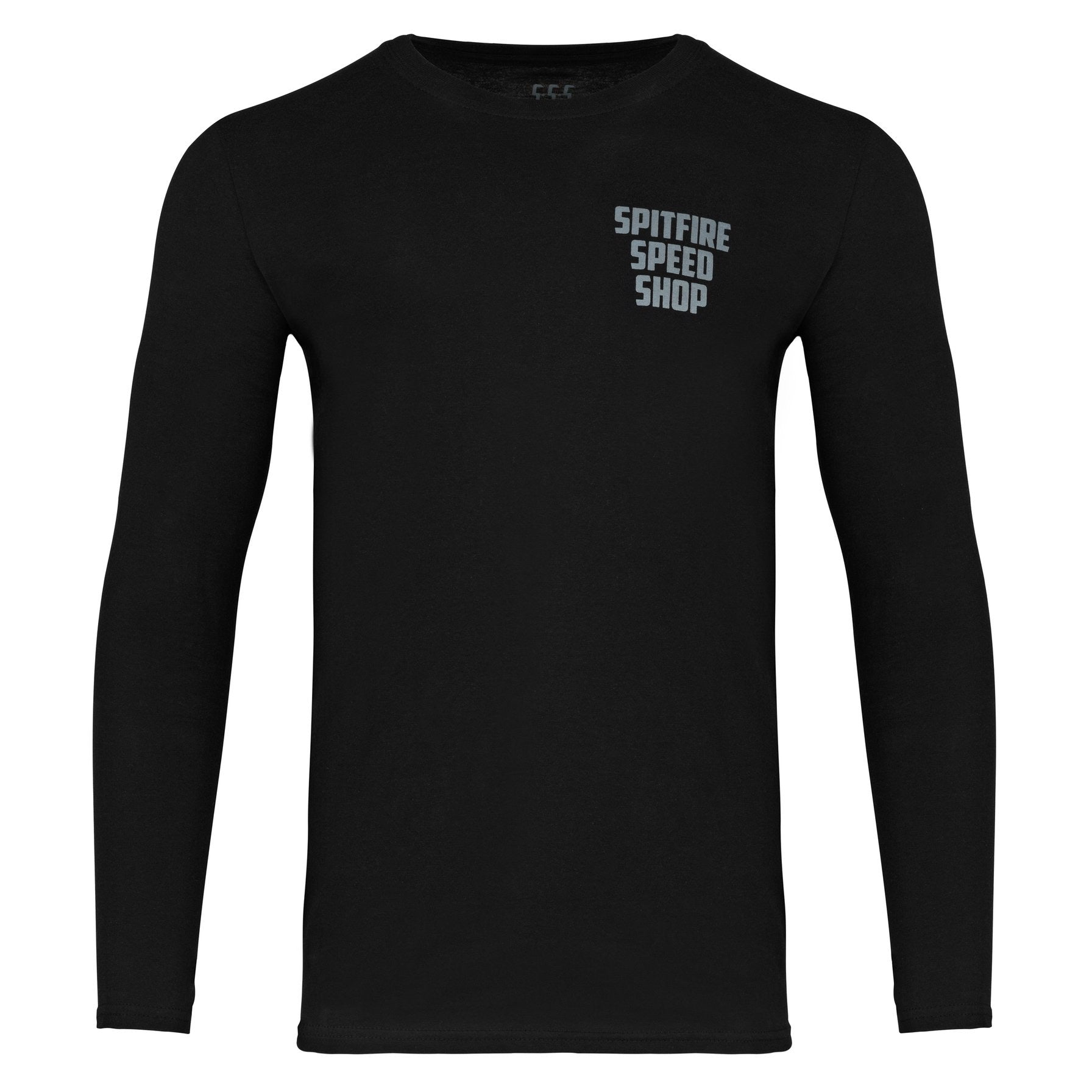 Spitfire Long Sleeve Tee Black With Grey Logo