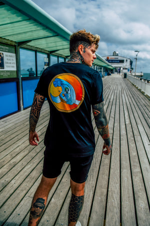 Spitfire Tee With Riding Waves Logo