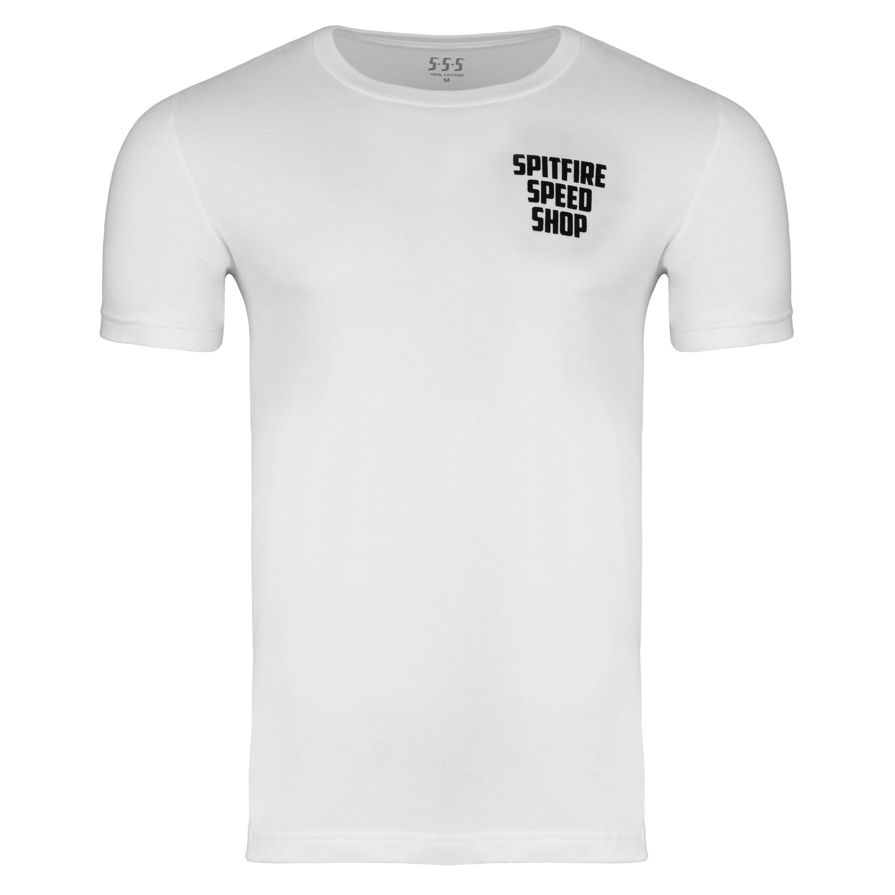 Spitfire Tee White With Colour Logo