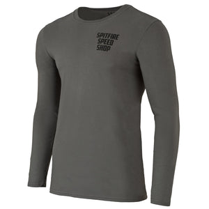 Spitfire Long Sleeve Tee Grey With Black Logo
