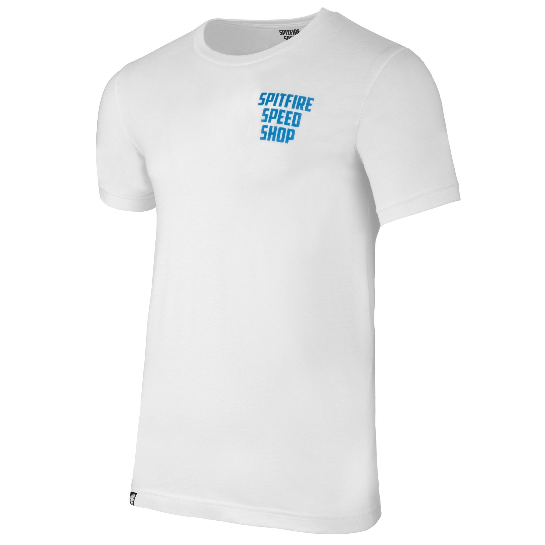 Spitfire Tee White With Riding Waves Logo