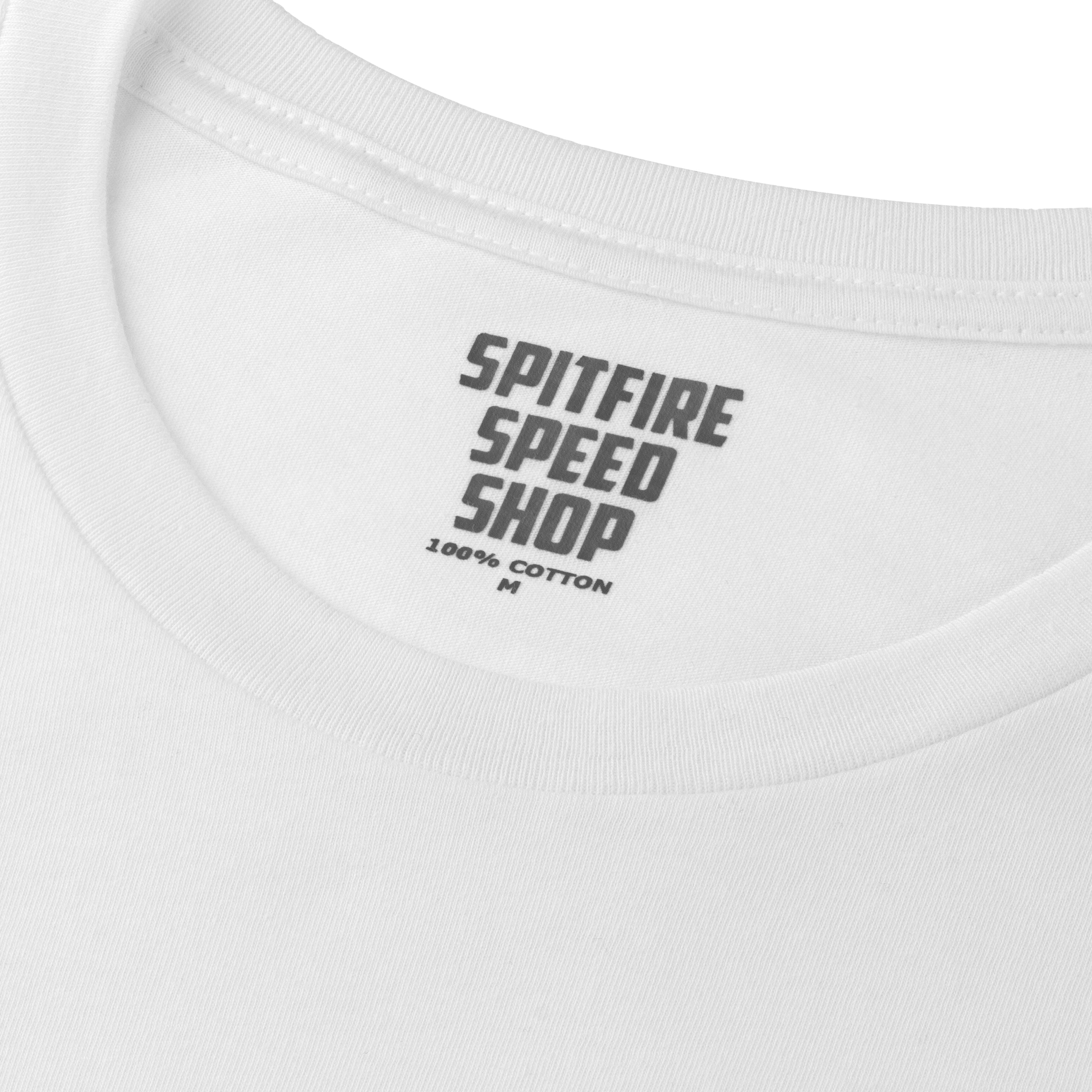 Spitfire Tee White With Blue Logo