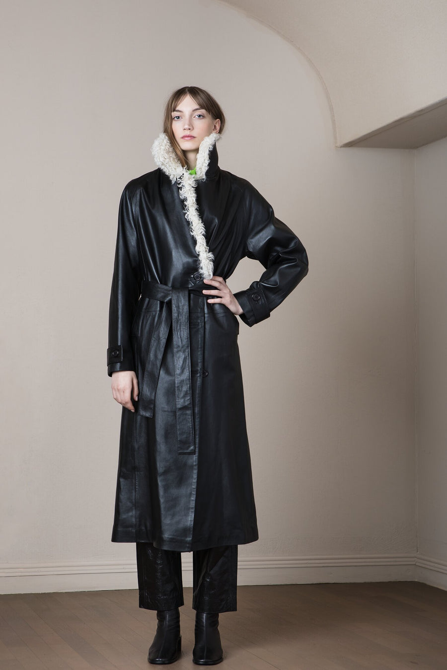 Selen Coat Black/Pearl