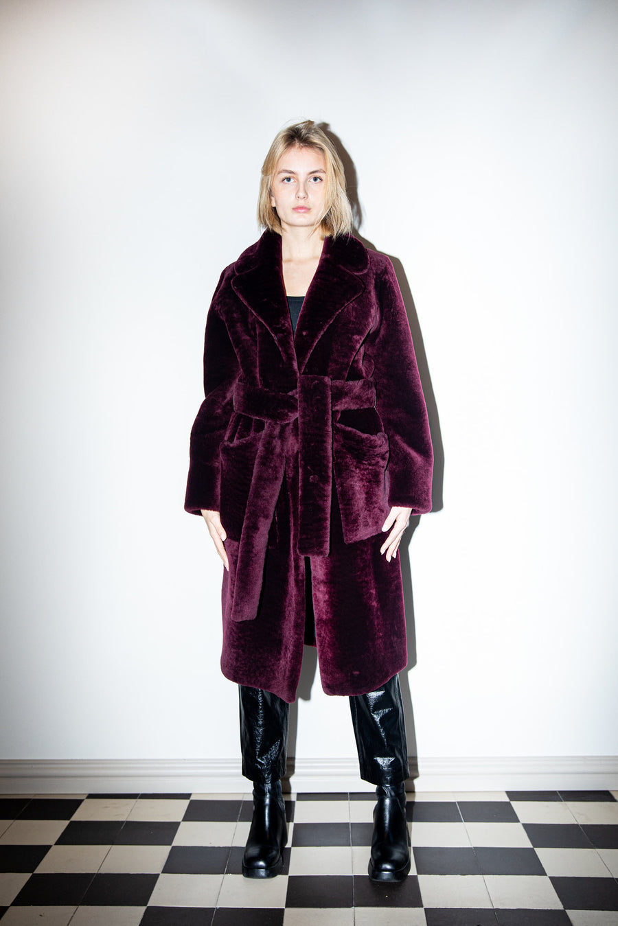 Viktoria Coat Beaujolais