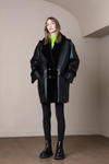 Lava Reversible Coat Black