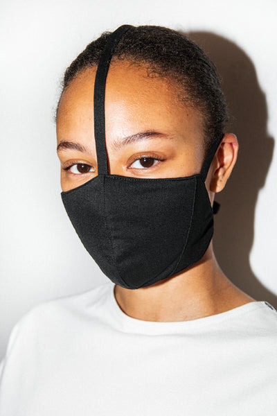 Antibacterial Cyber Face Mask Black