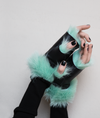 Alexandra Gloves Pastel Green/Black