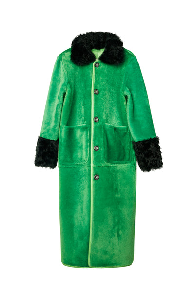 Marianne Reversible Coat Greener Grass/Pine Grove