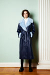 Selen Coat Deep Blue/Omphalodes Blue