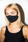 Antibacterial Trinity Face Mask Black Pique