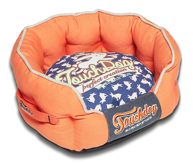 Touchdog Rabbit-Spotted Premium Rounded Dog Bed - Dog Shop Deals
