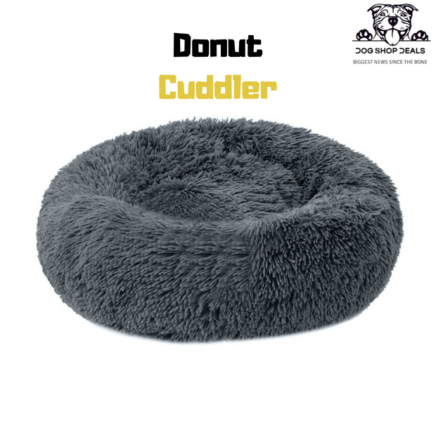 Soft Velvety Calming Bed | DONUT CUDDLER - Dog Shop Deals