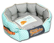 Touchdog Polka-Striped Polo Rounded Fashion Dog Bed - Dog Shop Deals