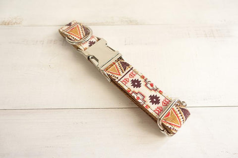 THE FOLK BROWN | Luxury Designer Personalised Dog Collar and Leash - Dog Shop Deals