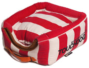 Touchdog Polo-Striped Convertible and Reversible Squared 2-in-1 Collapsible Dog House Bed - Dog Shop Deals