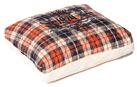 Touchdog Exquisite-Wuff Posh Rectangular Diamond Stitched Fleece Plaid Dog Bed - Dog Shop Deals